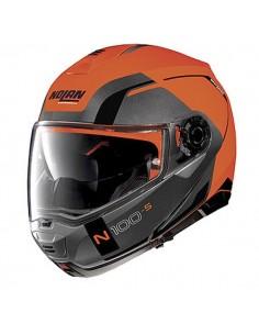 Casca moto Nolan N100 Modular CONSISTENCY N-COM Orange mat