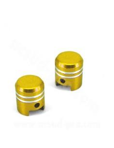 Capace ventil moto tip piston auriu 2 buc