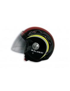 Casca moto Open Face Malossi Negru/Rosu