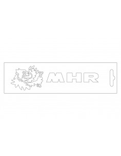 Sticker Malossi MHR Alb 13cm