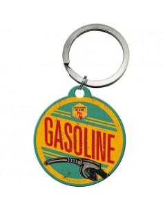 Breloc metalic rotund  Gasoline 4cm