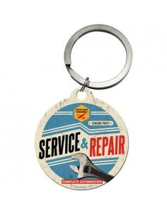 Breloc metalic rotund Service & Repair 4cm
