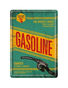 Carte postala metalica Gasoline 10x14cm