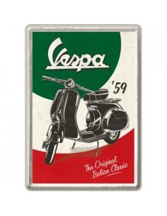 Carte postala metalica Vespa - The Italian Classic