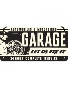 Placa 10x20cm Garage