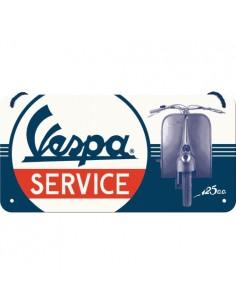 Placa 10x20cm Vespa - Service