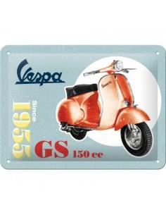 Placa 15x20cm Vespa - GS 150 Since 1955