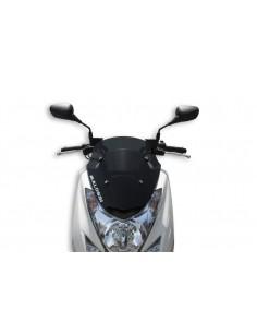 Parbriz sport Yamaha Majesty 125cc fumuriu inchis L 360xI 410 grosime 3 mm