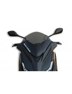 Parbriz sport Yamaha X-Max 125-400cc fumuriu inchis L 370xI 350 grosime 3 mm