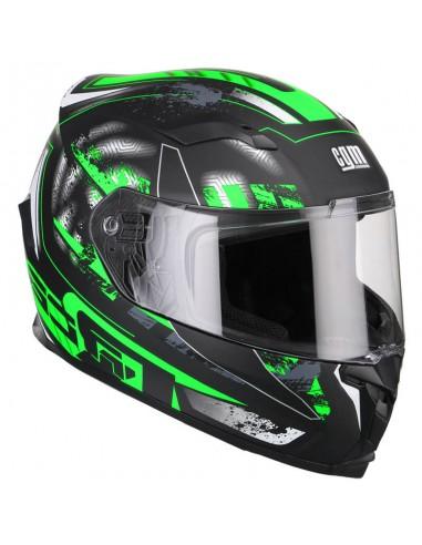 Casca Moto Full face CGM JEREZ Verde Negru